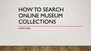Title on a blank gallery wall: How to search online museum collections, a video guide